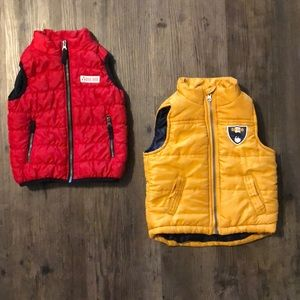 Other - Red and Yellow Baby Boy Vests - 18-24 months